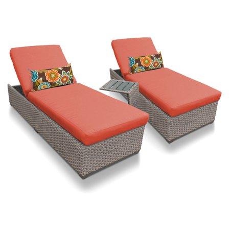 Hammary Oasis (TK Classics Oasis 3 Piece Wicker Outdoor Chaise and Side Table)