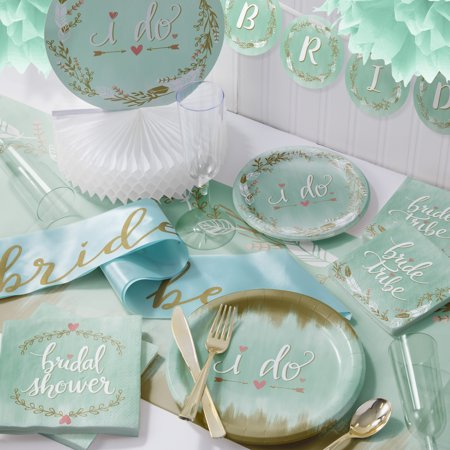 Large Mint to Be Deluxe Bridal Shower Party Supplies Kit