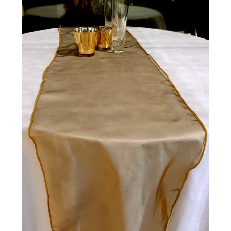 Quasimoon Organza Table Runner - Gold by PaperLanternStore