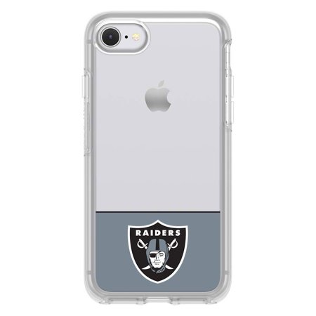 OtterBox NFL Symmetry Clear Series Case For iPhone 8 / 7, NFL Raiders ()