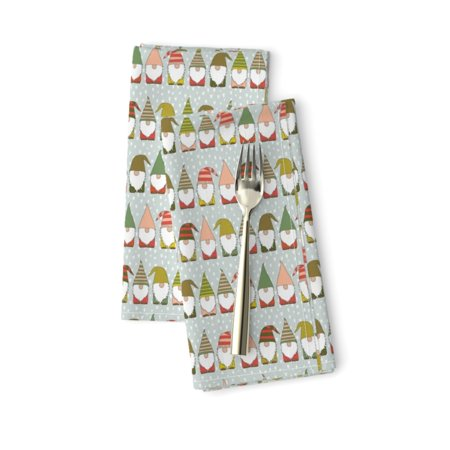 Christmas Gnomes Cotton Dinner Napkins by Roostery Set of 2