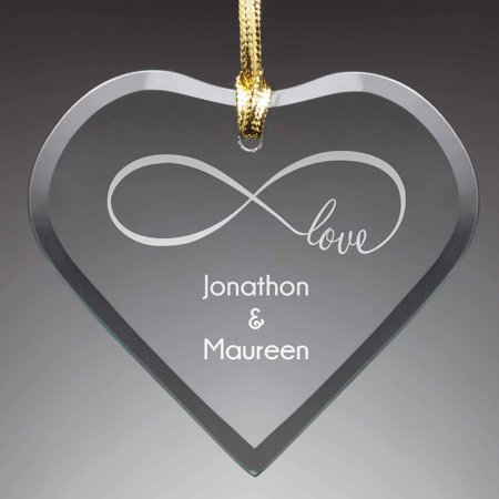 Personalized Glass Christmas Ornament - Our (Love Christmas Ornament)