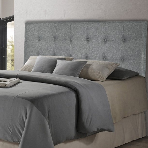 headboard fabric upholstered headboard with heavy duty with gray nailheads modern linen tufted button full queen size