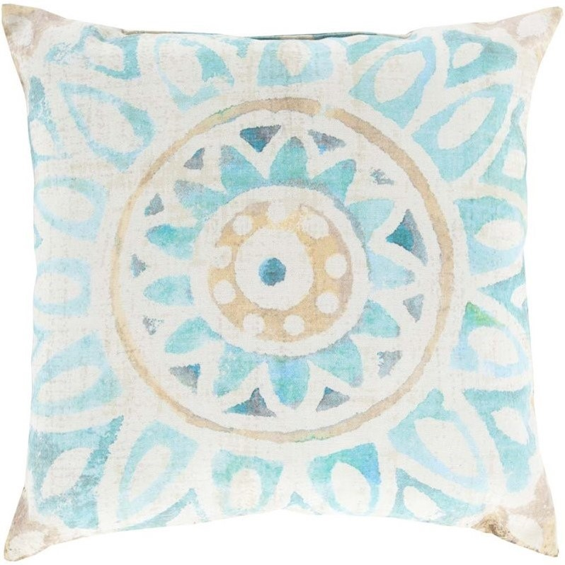 Surya Watercolor Sunburst Outdoor Pillow