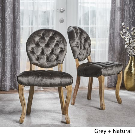 Christopher Knight Home Xenia Tufted Velvet Dining Chair (Set of 2) by