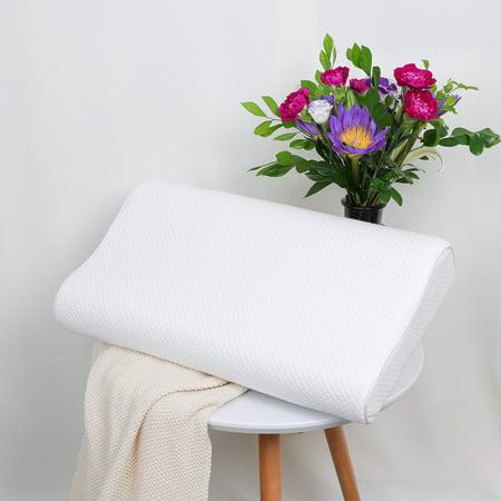 Sleep Contoured Memory Foam Pillow Neck Pillow Standard Size 60 x 40 x 15/13cm - image 8 de 8