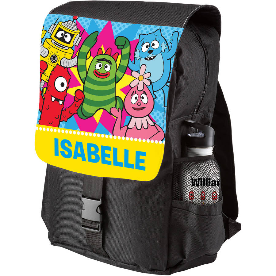 Personalized Yo Gabba Gabba Dance Party Black Youth Backpack