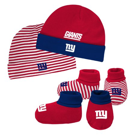 4a347e36238 Newborn   Infant Royal Red New York Giants Cuffed Knit Hat   Booties Set -  Newborn - Walmart.com