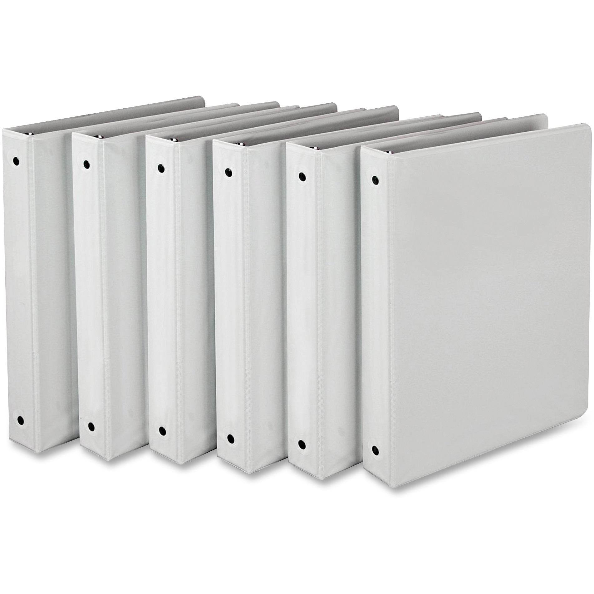 Click here to buy Samsill, SAMI08537, Value Round Ring View Binder, 6   Carton, White by SAMSILL CORPORATION.