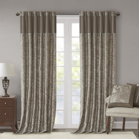 "Set of 2 (108""x50"") Valerie Window Curtain Panel  Taupe"