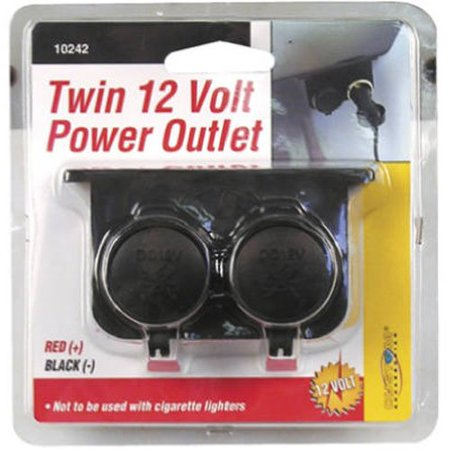 - 10242 Auxiliary Twin Power Outlet, Front Glass Black Packs Signal 6907 12V Light 1431 Outlet 1439 Bullet Rear Auxiliary 5011 Aux Accent LED Twin with Cap 6 Saddlebag.., By Custom Accessories