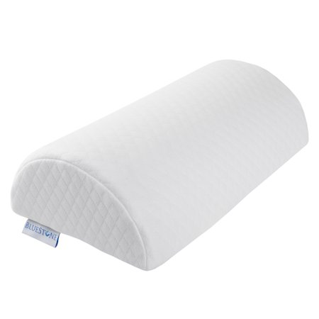 Futon Bolster Pillow - Memory Foam Back Pillow / Half Moon Lumbar Bolster By Bluestone