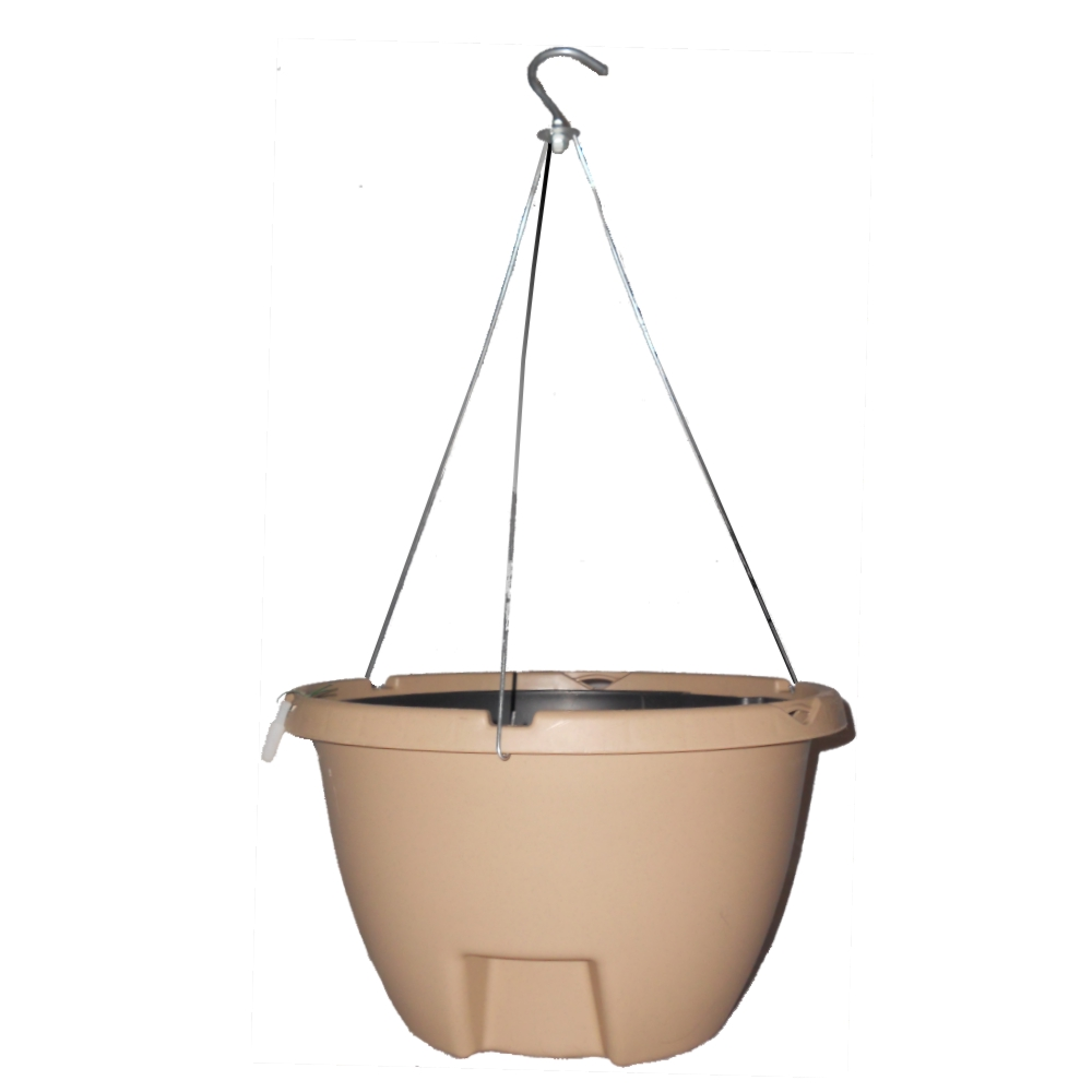 The Weekender Self Watering Hanging Planter SAND by Eckert's Greenhouse