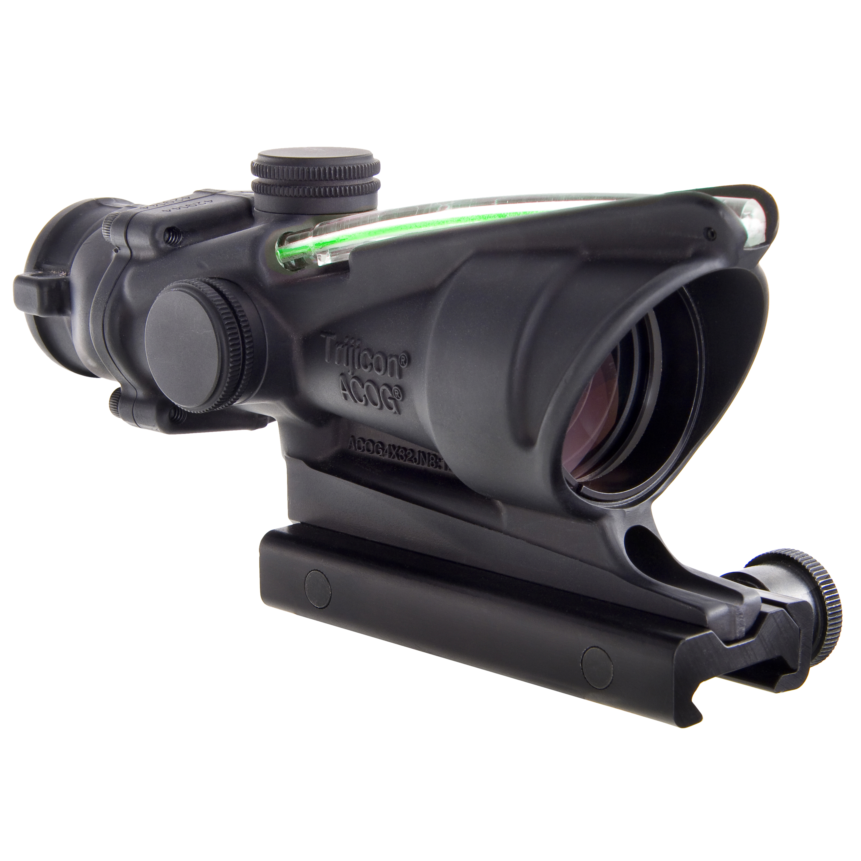 Trijicon ACOG 4x32mm Dual Illuminated Scope Green Chevron M193 Reticle with TA51 Mount, Black