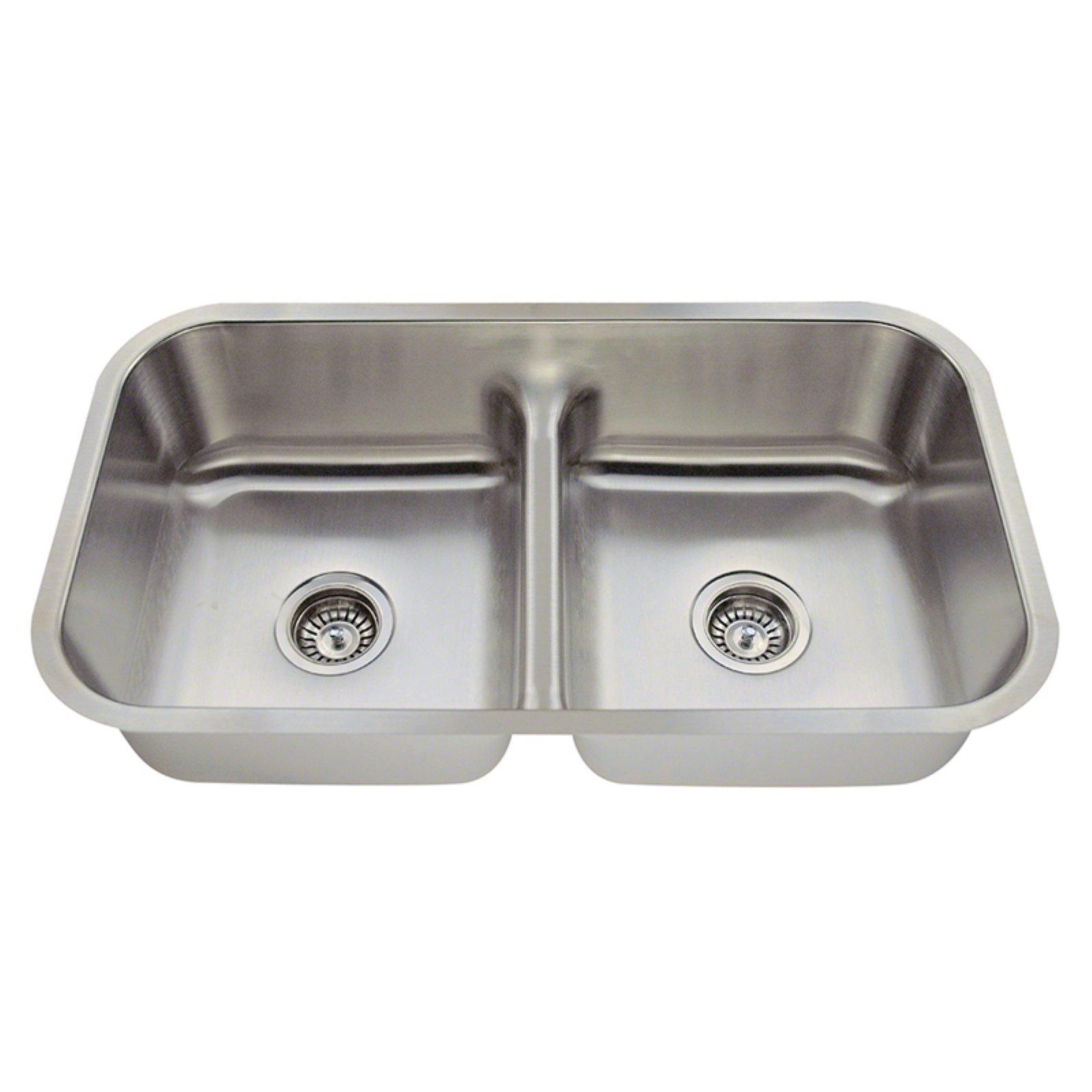 Polaris Sinks P215 Double Basin Undermount Kitchen Sink