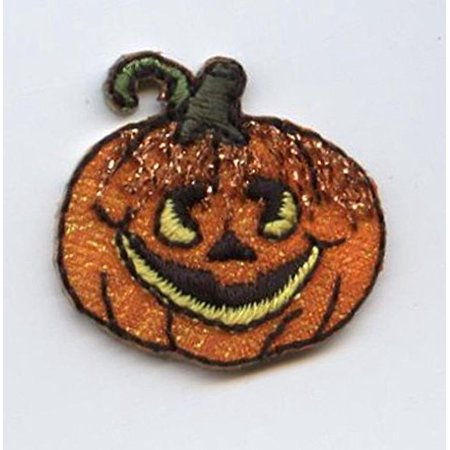 Small - Halloween Pumpkin/Jack O'Lantern - Iron on Applique/Embroidered Patch (Halloween Pumpkin Patch Phoenix)