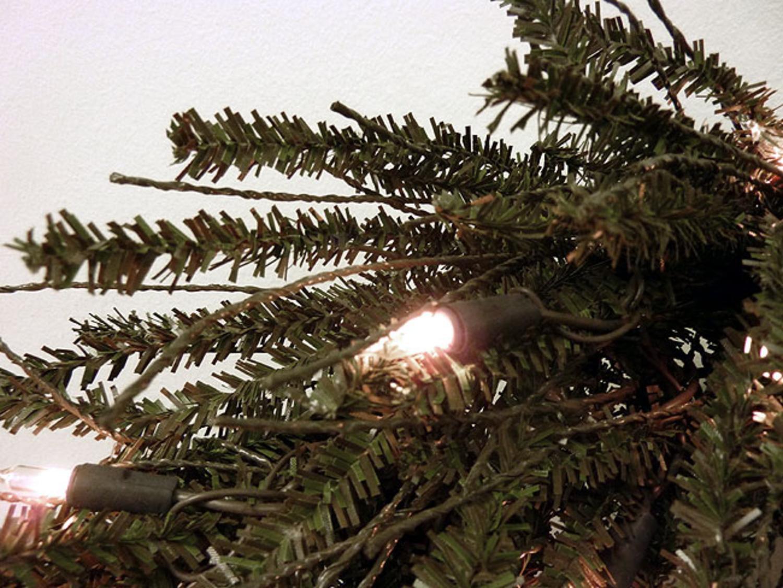 7' Pre-Lit Slim Vienna Twig Artificial Christmas Tree - Clear ...