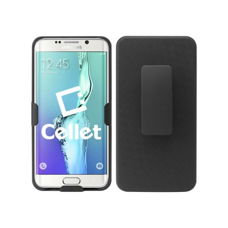 Cellet Shell/Holster/Kickstand Combo Case with Spring Belt Clip for Samsung Galaxy S6 edge plus (Spring Belt Clip)