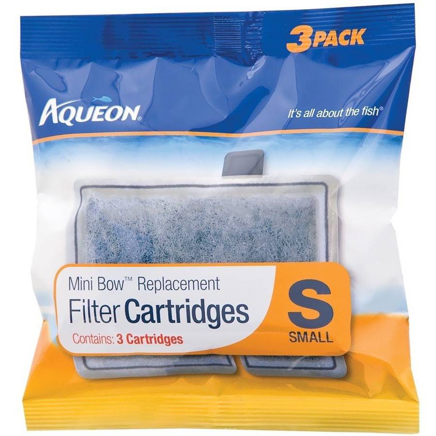 Aqueon Mini Bow Replacement Aquarium Filter Cartridges, Small, 3pk