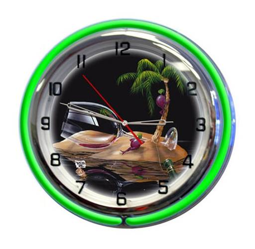 Lost in Paradise Clock - 18 in.