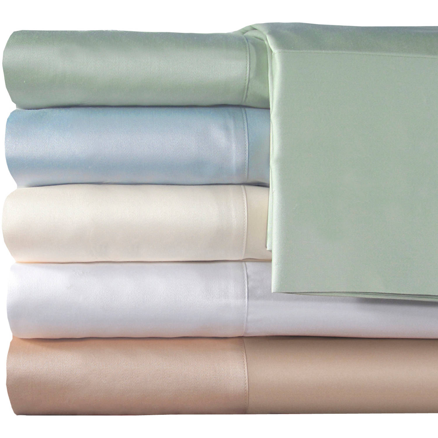 Veratex, Inc. Supreme Sateen 300-Thread Count Solid Pillowcases, 2pk