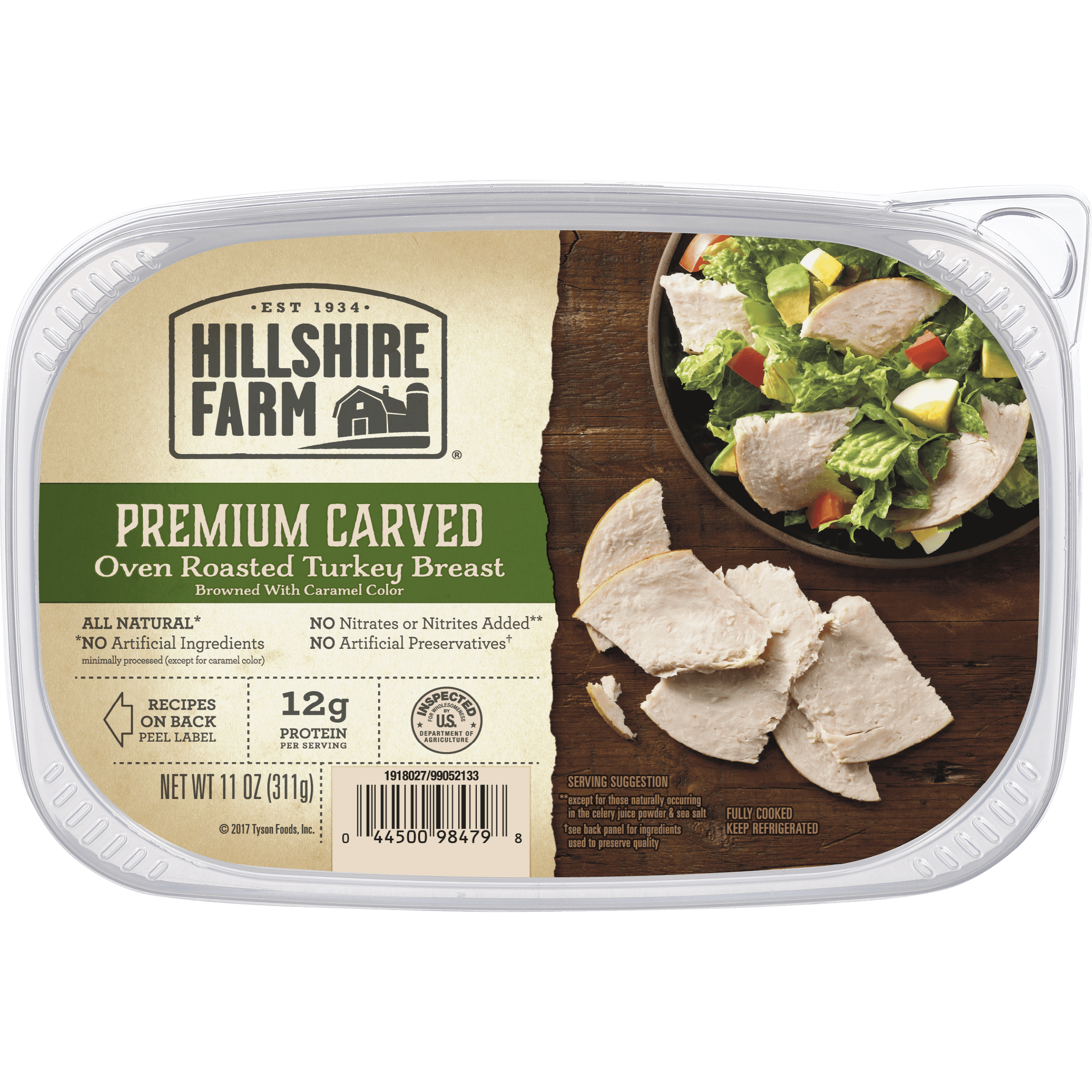 Hillshire Farm Premium Carved Oven Roasted Turkey Breast, 11 Oz.