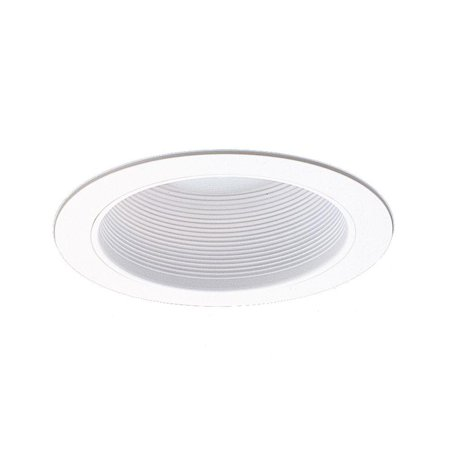 NICOR Lighting 6-Inch Baffle Sloped Trim for Sloped Housings, White (Ic White Baffle Sloped Trim)