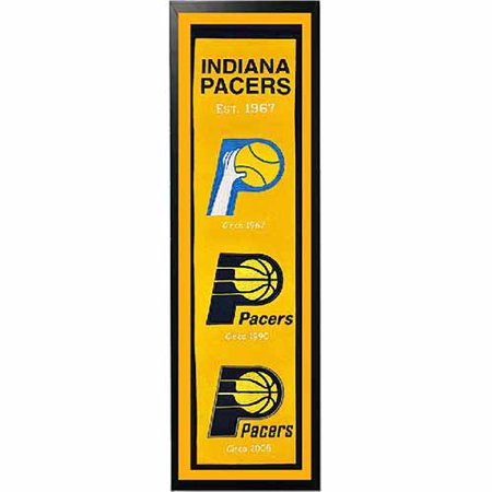 """NBA 14"""" x 37"""" Banner Frame, Indiana Pacers by"""