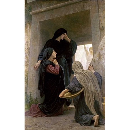 The Three Marys at the Tomb Stretched Canvas - William-Adolphe Bouguereau (12 x