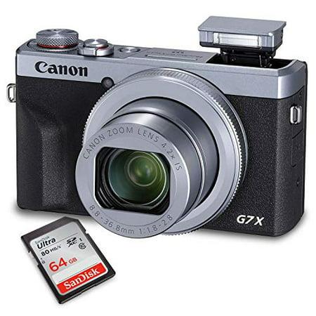 Canon PowerShot G7 X Mark III Digital Camera (Silver) + Memory Card