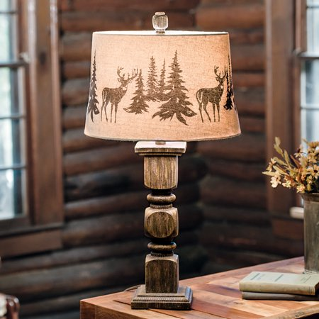 Deer forest cabin table lamp rustic lighting fixtures walmart deer forest cabin table lamp rustic lighting fixtures mozeypictures Image collections
