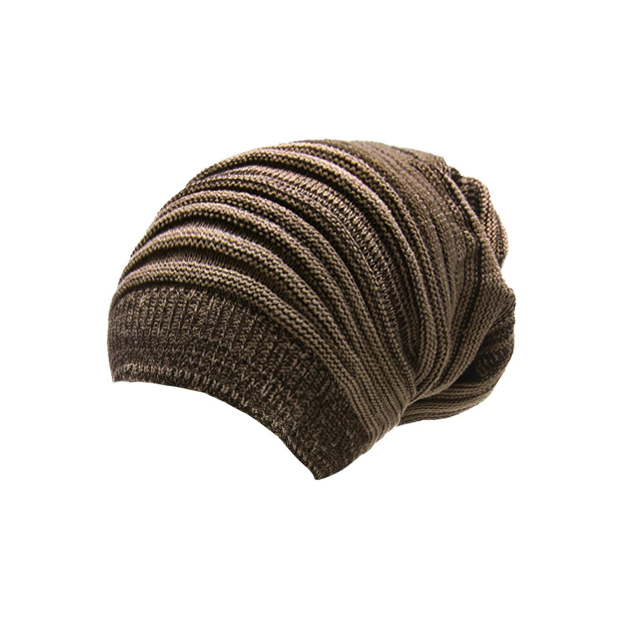 736b4156d3 Men Warm Hand Knitting Textured Design Beanie Hat Cap Coffee Dark Khaki