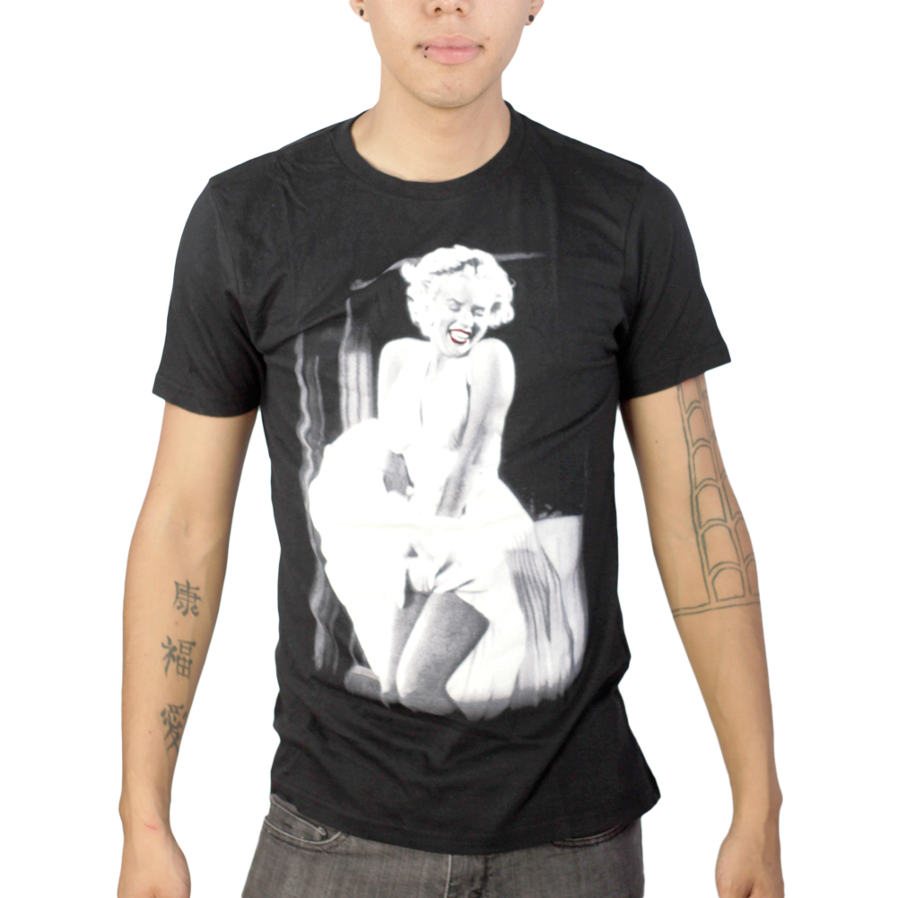 Marilyn Monroe Classic Pose Men's Black T-shirt NEW Sizes S-2XL