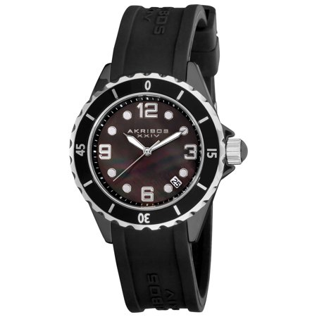 Women's Ceramic Black Strap Watch with FREE Bangle