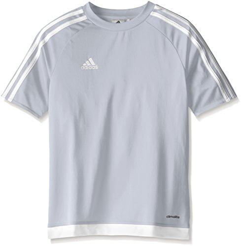 adidas Youth Soccer Estro Jersey, Light Grey/White, X-Small ...