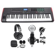 Novation IMPULSE 61-Key Ableton Live Keyboard Controller+Headphones+Speaker+Mic