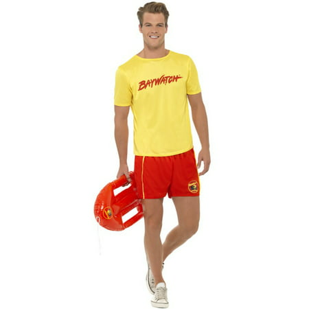 Men's Bay Watch Baywatch Beach Life Guard Lifeguard Costume Large 42-44