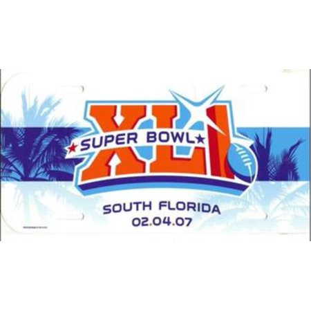 Super Bowl Xli Nfl Plastic Team License Plate