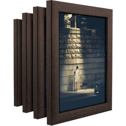 contemporary brazilian walnut picture frame set of 4 8x10 inch. Black Bedroom Furniture Sets. Home Design Ideas