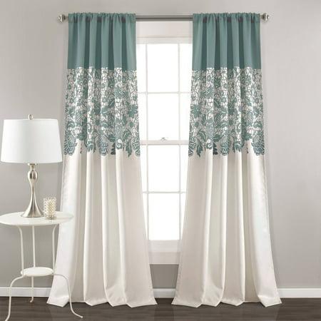 Estate Garden Print Room Darkening Window Curtain Set