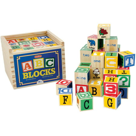 Alphabet Newborn Baby Blocks (Schylling Alphabet Blocks)