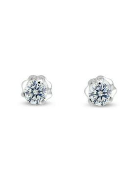 4349cd806 Product Image 1/4 ct tw G I1 Natural Round Diamond Stud Earrings Three Prong  Setting 14K. Glitz Design