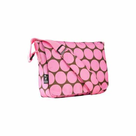 Wildkin Dot Pink 13 Inch X 10 Messenger Bag