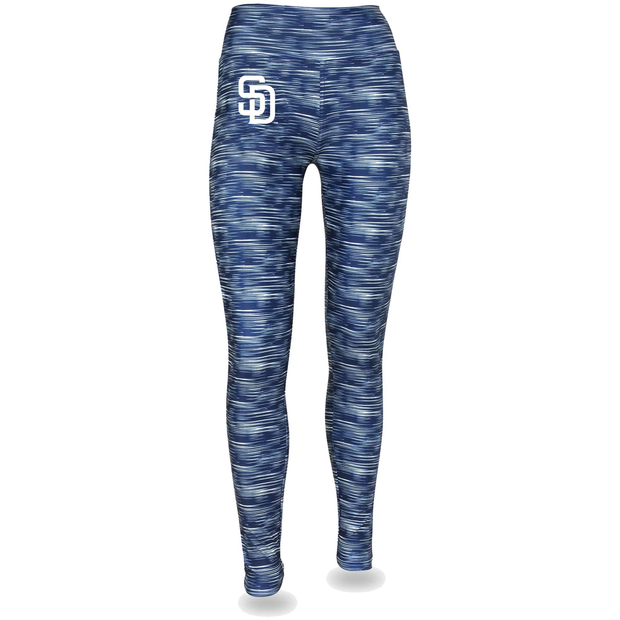 Women's Navy/White San Diego Padres Space Dye Leggings