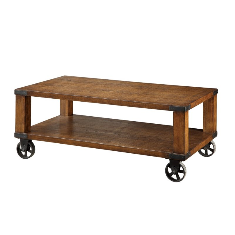 Furniture of America Jacqueline Coffee Table in Dark Oak