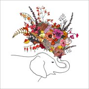 Oopsy daisy, Fine Art for Kids Oopsy daisy 'Botanic Elephant' 10 x 10-inch Stretched Canvas Wall Art