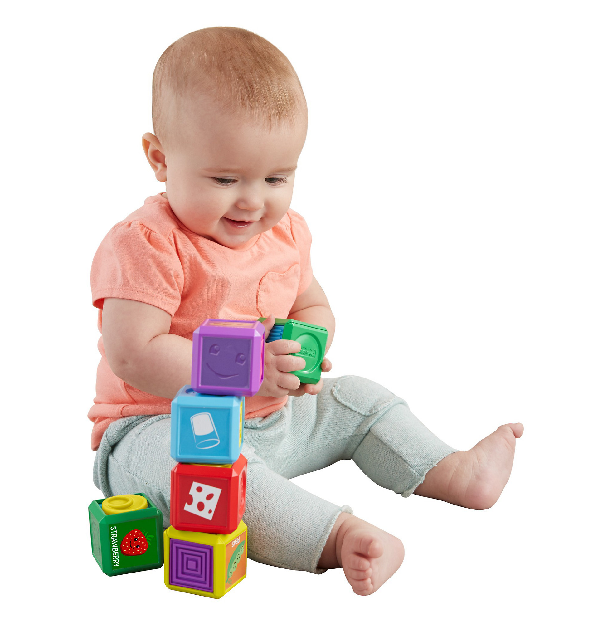 Fisher Price Laugh & Learn First Words Food Blocks by Fisher-Price