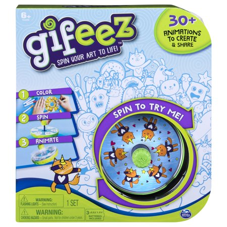 Gifeez, Spinning GIF Art Studio, Creates Over 30 Custom Animations & Gifs, for Kids Aged 6 and Up