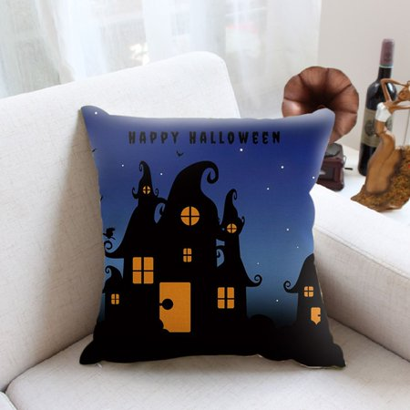 Halloween Night Pumpkin Letter Printed Cushion Cover Linen Cotton Pillowcase - image 3 of 8
