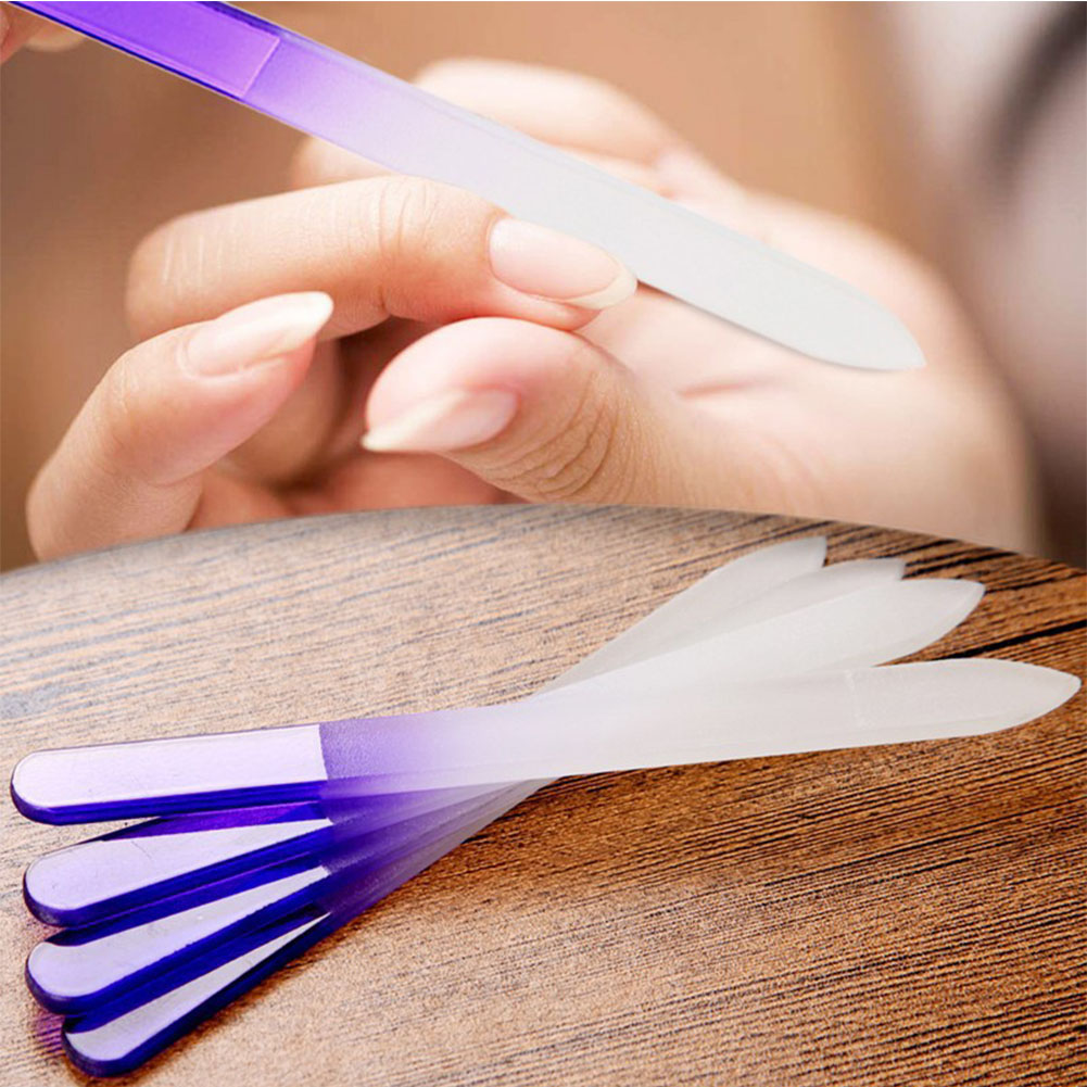 4pcs Nail Files Crystal Glass File Buffer Manicure Device Polishing Nail Art Decorations Tool